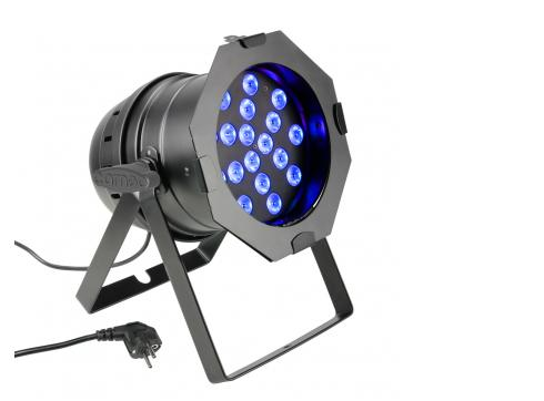 Cameo PAR 64 CAN - 18 x 3 W TRI Colour LED RGB PAR Scheinwerfer in schwarzem Gehäuse
