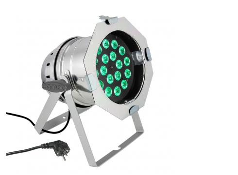 Cameo PAR 64 CAN - 18 x 8W QUAD Colour LED RGBW PAR Scheinwerfer in poliertem Gehäuse