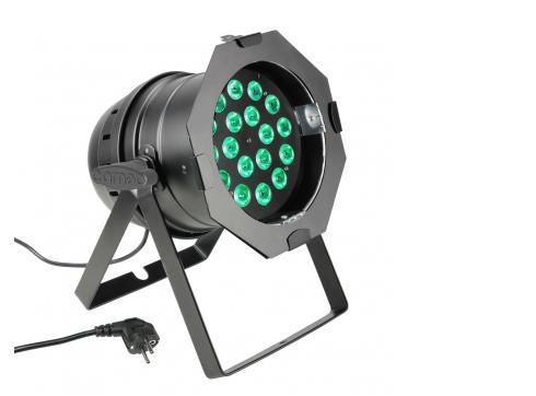 Cameo PAR 64 CAN - 18 x 8W QUAD Colour LED RGBW PAR Scheinwerfer in schwarzem Gehäuse