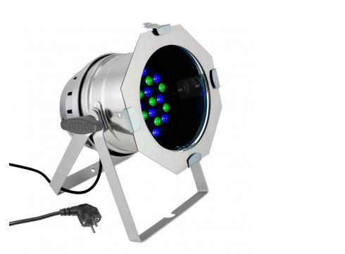 Cameo PAR 64 CAN - 36 x 3 W LED RGB PAR Scheinwerfer in poliertem Gehäuse