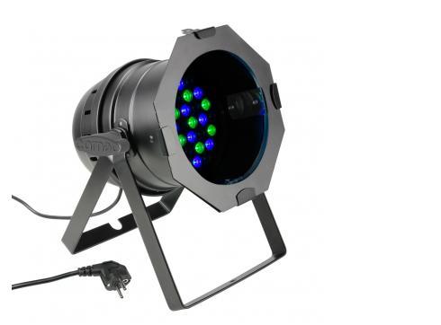Cameo PAR 64 CAN - 36 x 3 W LED RGB PAR Scheinwerfer in schwarzem Gehäuse