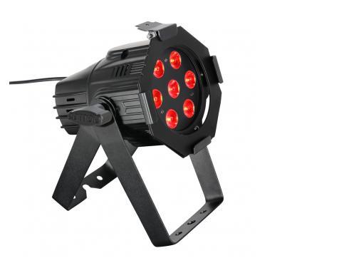 Cameo Studio Mini PAR - 7 x 3 W TRI Colour LED RGB PAR Scheinwerfer in schwarzem Gehäuse