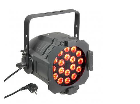 Cameo Studio PAR 64 CAN - 18 x 3 W TRI Colour LED RGB PAR Scheinwerfer in schwarzem Gehäuse