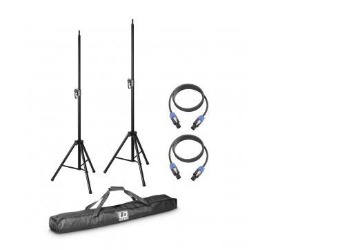 LD Systems DAVE 8 SET 2 - Lautsprecher Stativ mit Transporttasche