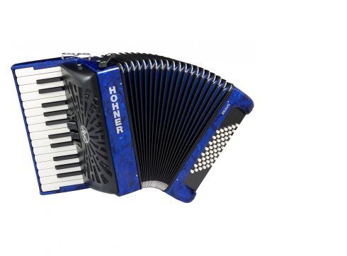 Hohner Bravo II 48 silent key blau
