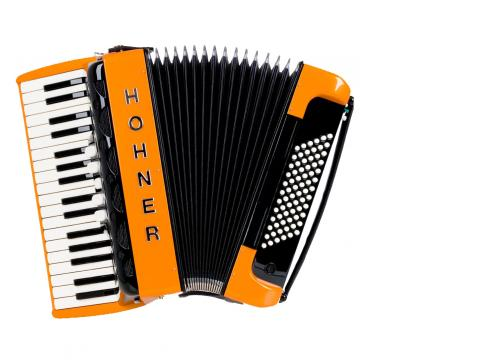 Hohner Amica III 72 Design 2 orange